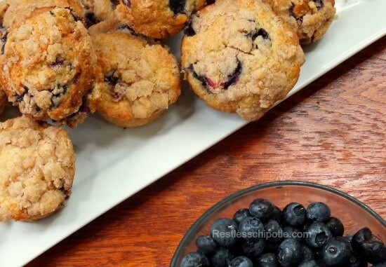 Blueberry White Chocolate Muffins | Restless Chipotle