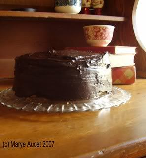 Classic Yellow Cake with Bittersweet Chocolate Frosting ...