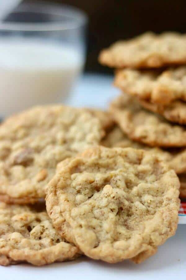 Homemade butterscotch cookies