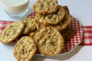 Quick and easy, these butterscotch oatmeal cookies have stood the test of time! From RestlessChipotle.com