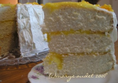 a slice of buttermilk layer cake