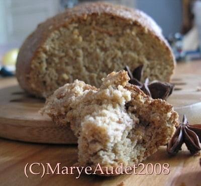 light rye bread closeup