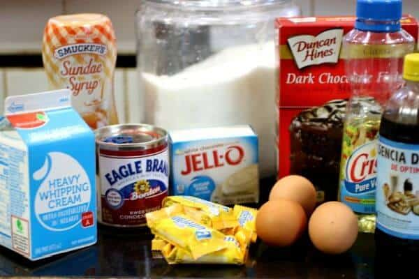 Ingredients for holy cow cake