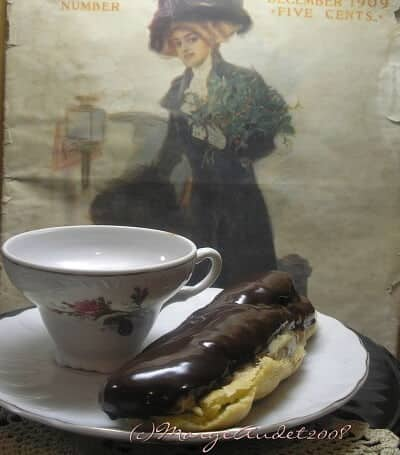 easy chocolate eclairs with glossy glaze and espresso pastry cream