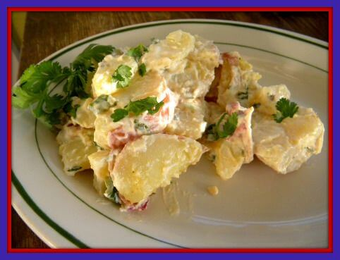 southwestern potato salad on a plate