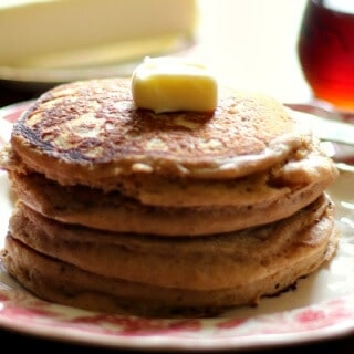 Whole wheat pancakes recipe is so easy! My kids love these. From RestlessChipotle.com