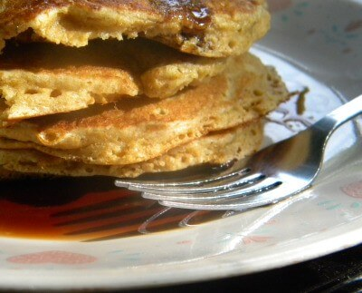 light whole grain pancakes are a healthy breakfast