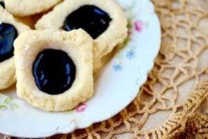 Earl Grey Chocolate Thumbprint Cookies: Easy to Ship!