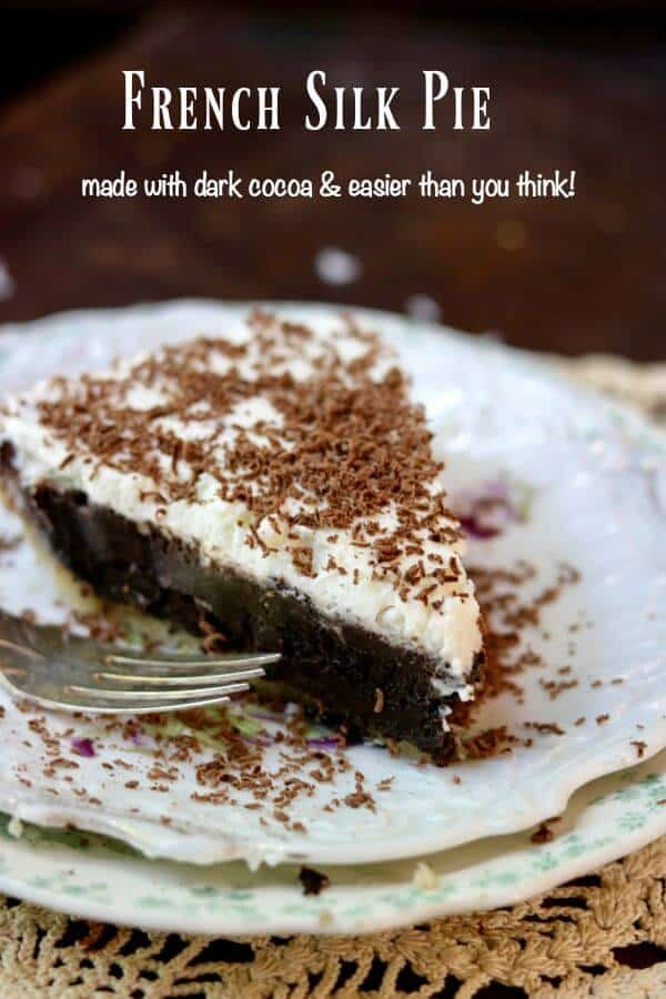 Easy French Silk Pie recipe is deep, rich chocolate. From RestlessChipotle.com