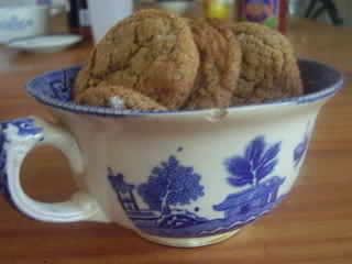 molasses cookies in a cup