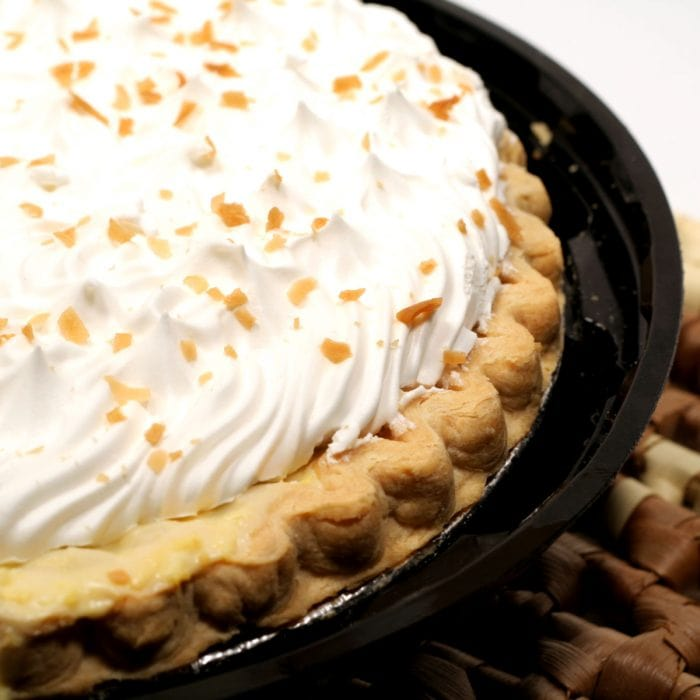 Uncut coconut pie
