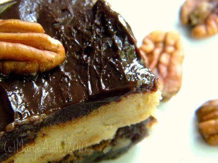 cookie dough brownies on plate