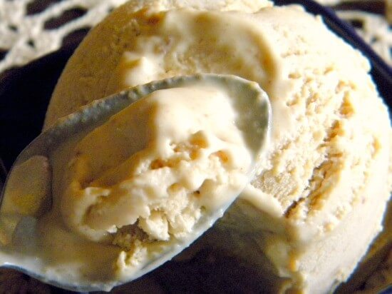 spoonful of peanut butter ice cream