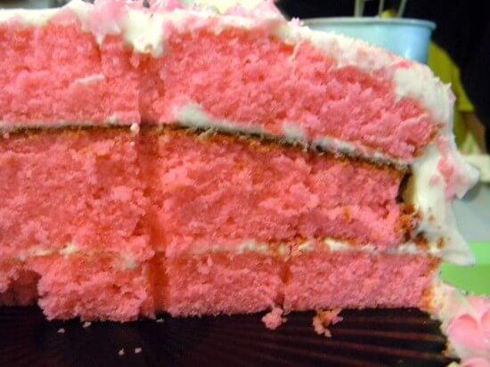 pink velvet layer cake