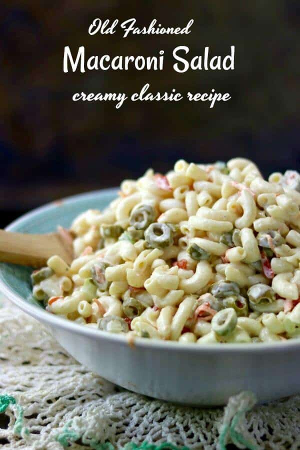 Old fashioned macaroni salad recipe is the creamy classic we all grew up with! Best pasta salad ever! from RestlessChipotle.com