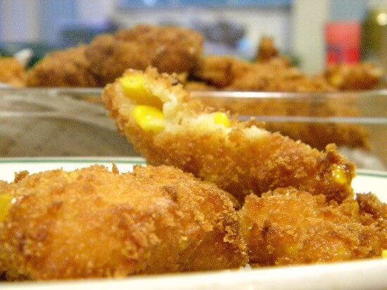 plate of corn fritters