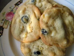 blueberry white chocolate cookies are delicious|reslesschipotle.com