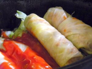 cabbage rolls all rolled up