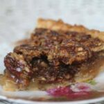 slice of southern pecan pie.