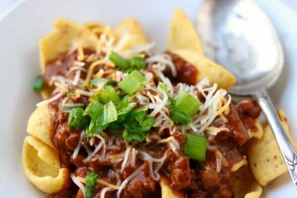 Original Frito Pie recipe is a Texas Classic! SO quick and easy! From RestlessChipotle.com