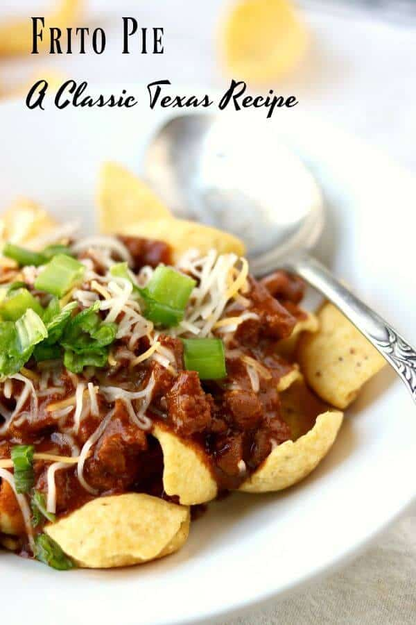 Original Frito pie is a classic Texas recipe that's found at nearly every high football concession stand - addictively good. From RestlessChipotle.com