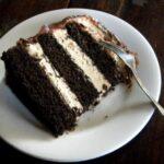 chocolate cake pb mousse