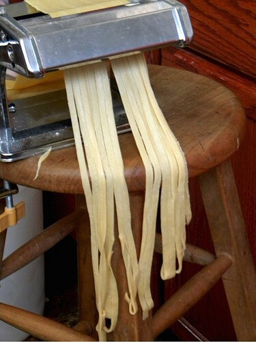 Homemade pasta is easy to make and it's so delicious! From RestlessChipotle.com