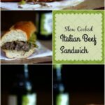Slow cooker Italian beef sandwiches are so yummy! AND just TWO ingredients! From RestlessChipotle.com
