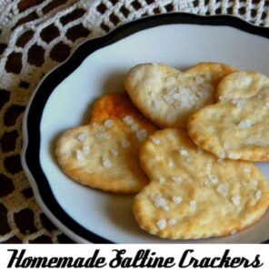homemade saltines on a plate