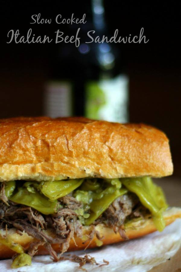 These slow cooker Italian beef sandwiches are so EASY! :) From RestlessChipotle.com