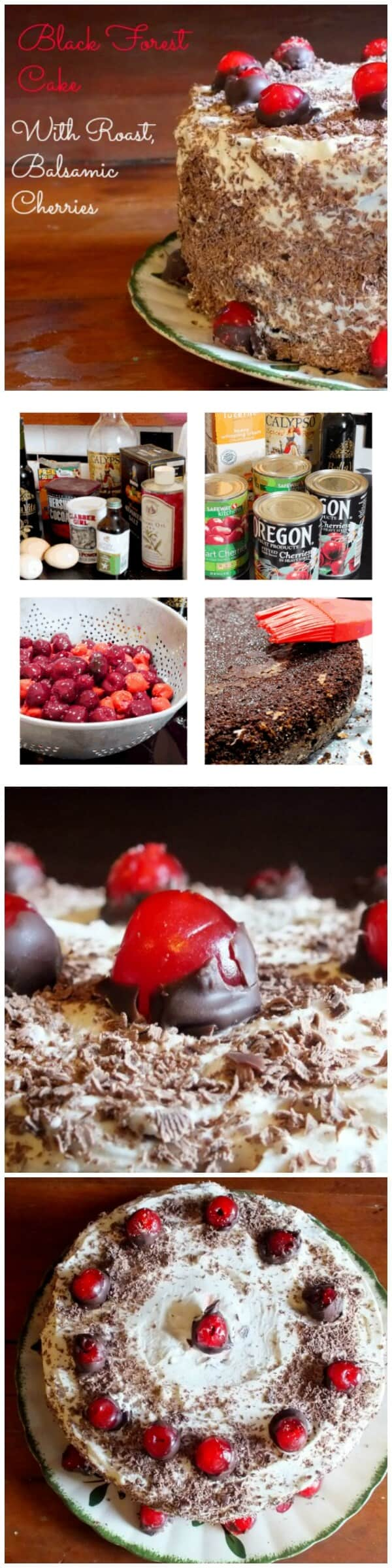 Black forest cake with rum roasted cherries is just about as good as it gets. It's dark chocolate with that tang of cherry mellowed with rum and covered in a cloud of whipped cream frosting. So good! Restlesschipotle.com