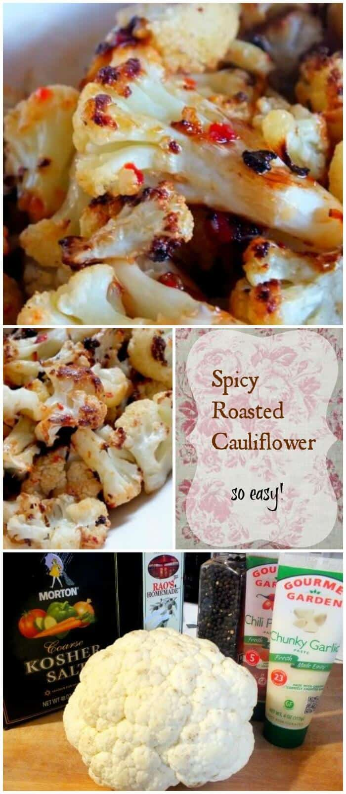 Spicy Roasted Cauliflower is an easy side dish for summer or winter! From RestlessChipotle.com