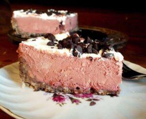 Frozen Red Velvet German Chocolate Deep Dish Pie