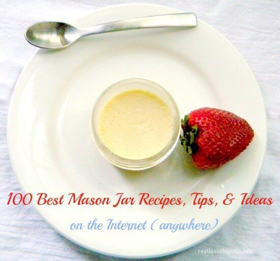 mason jar recipes creme caramel in a mason jar with a strawberry