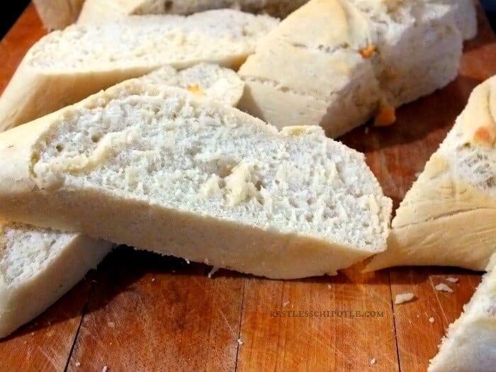 30 minute baguette slices|restlesschipotle.com