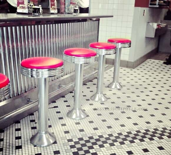 twirly chrome stools|restlesschipotle.com
