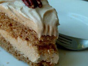 spice cake closeup