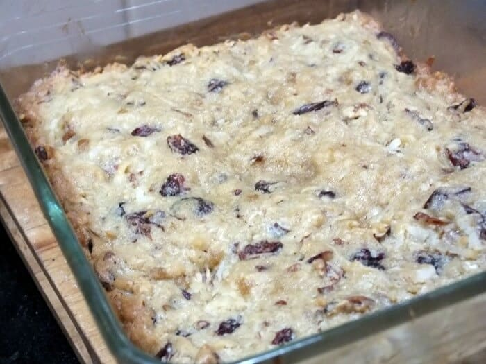 baked cranberry bars