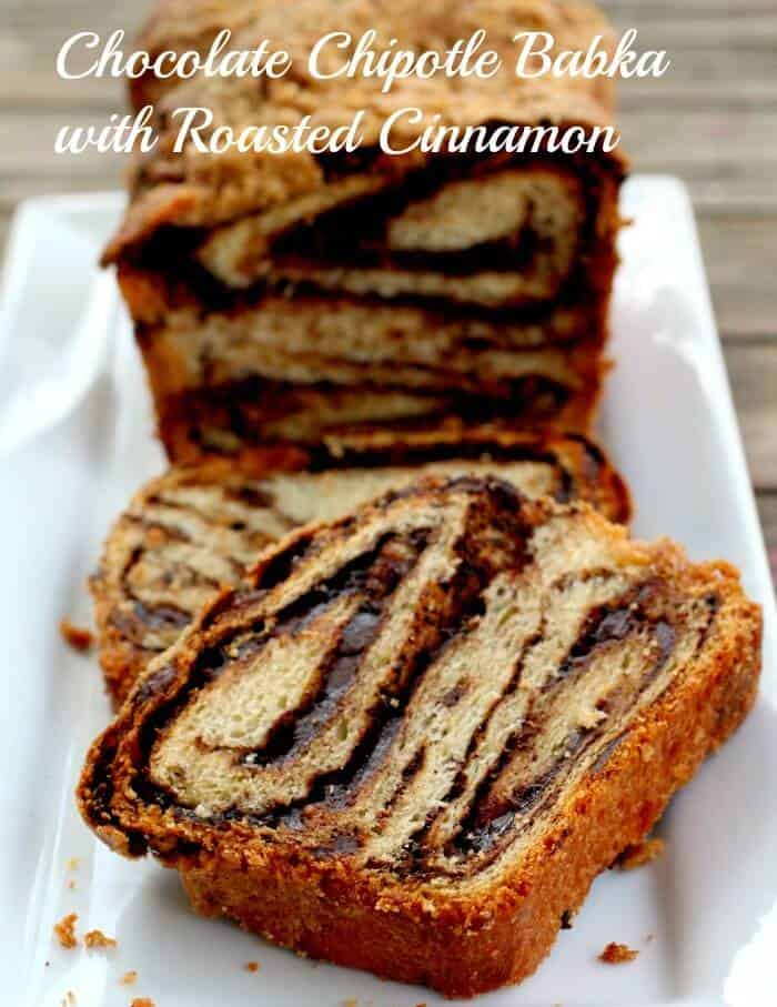 chocolate chipotle babka for brunch
