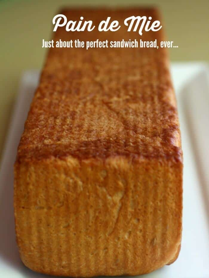 Uncut loaf of white bread with title text overlay