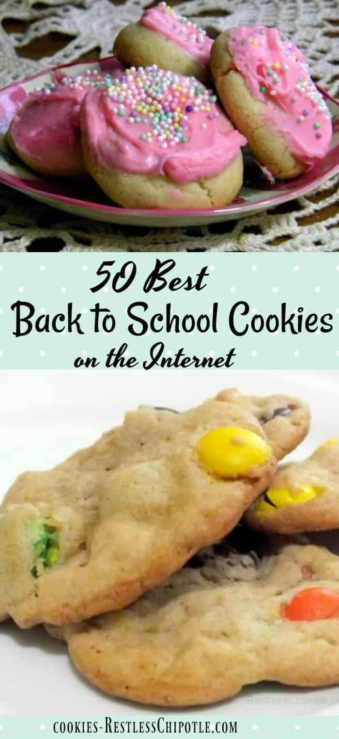 50 of the best back to school cookie recipes anywhere! These cookies are guaranteed to travel well and make your child's lunch full of homemade love. From RestlessChipotle.com