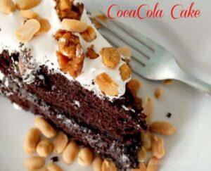 double fudge coca cola cake with salted peanut brittle|restlesschipotle.com
