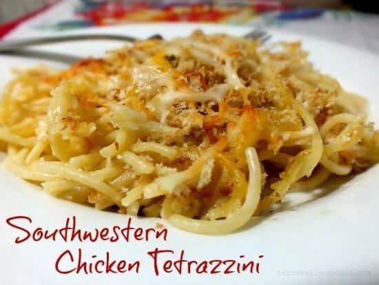 chicken tetrazzini with southwestern flavor|restlesschipotle.com
