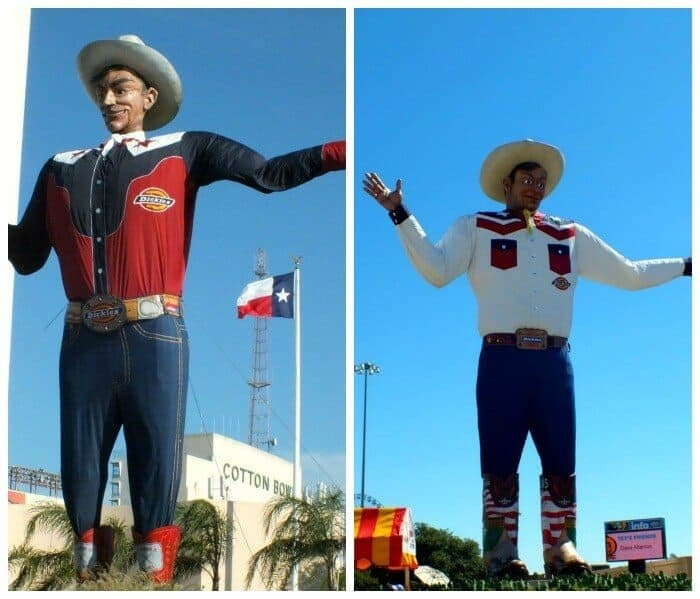 Big Tex then and now.|restlesschipotle.com