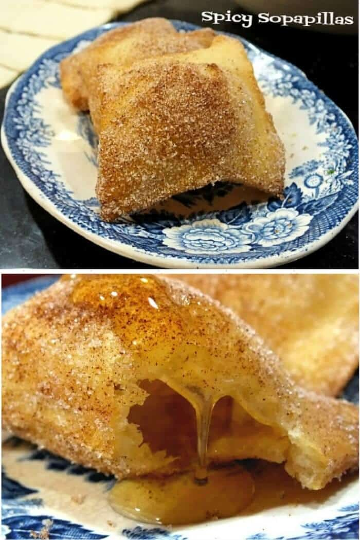 Spicy sopapillas are easy to make. Light, airy, and covered in a spicy cinnamon ancho sugar mixture and then drizzled with honey? My newest addiction|restlesschipotle.com
