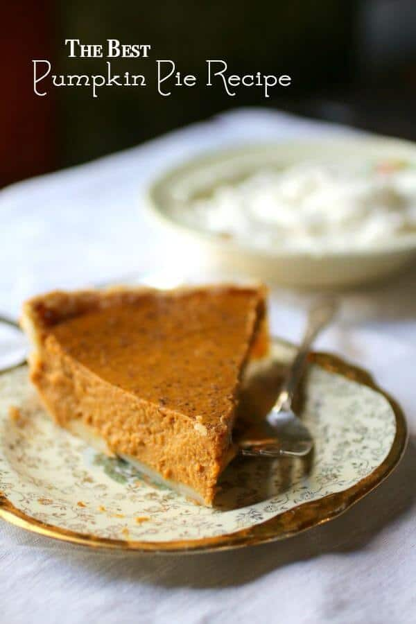 This traditional recipe makes the best pumpkin pie ever! It's creamy with just enough pumpkin pie spice. From RestlessChipotle.com
