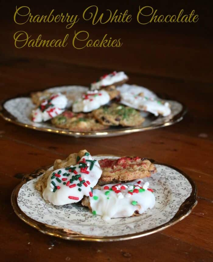 cranberry oatmeal white chocolate cookies glazed with white chocolate -restlesschipotle.com