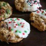 cranberry white chocolate oatmeal cookies christmas