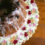 spicy prune bundt cake close up