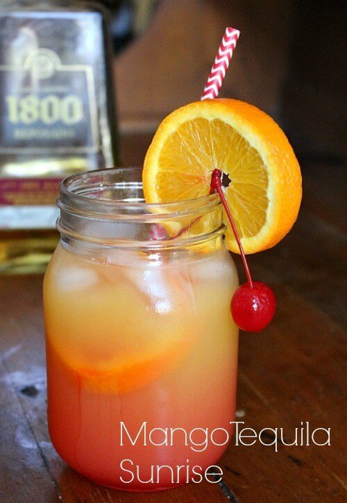 Mango tequila sunrise recipe restless chipotle for Drinks you can make with tequila